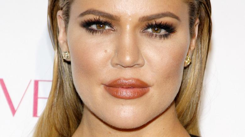 Khloé Kardashian with makeup on