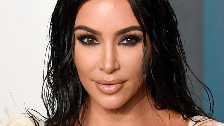Kim Kardashian posing at event