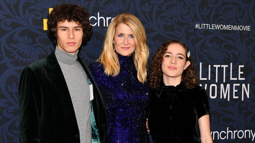"Laura Dern with Ellery and Jaya at ""Little Women"" premiere"