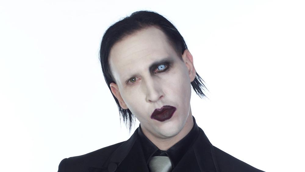 Marilyn Manson wearing make-up