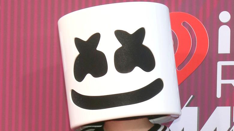 Marshmello wearing a mask