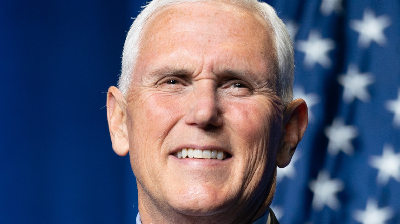 Former Vice President Mike Pence smiling