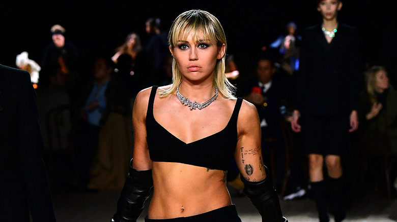 Miley Cyrus on the runway