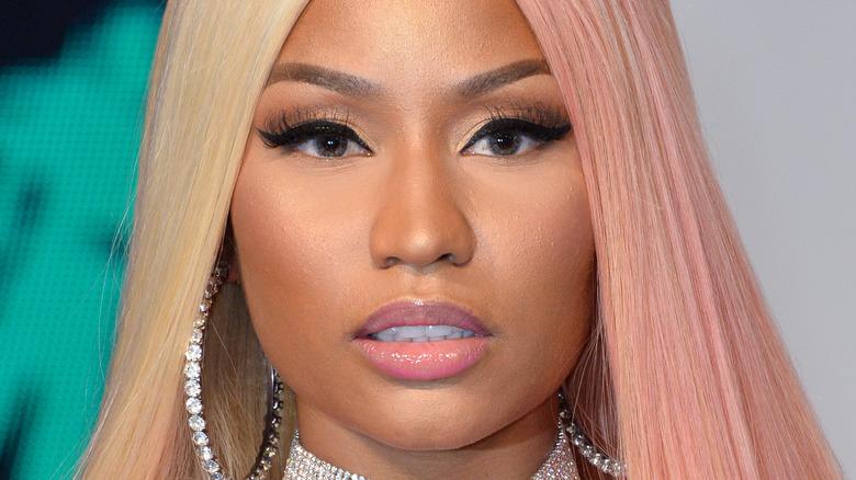 Nicki Minaj poses on the red carpet