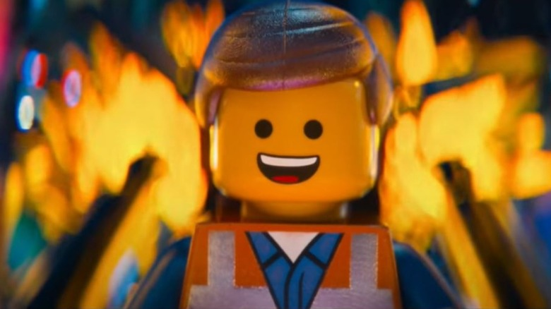 """Emmet smiling in """"The LEGO Movie"""""""