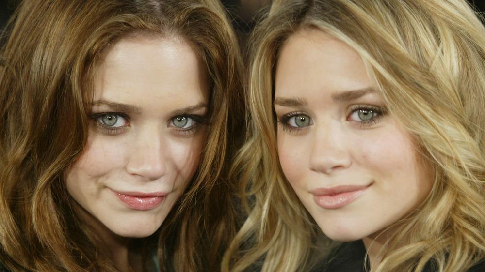 The Olsen twins posing
