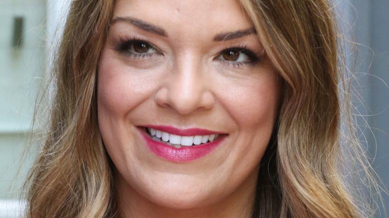 Sabrina Soto smiling pink lipstick
