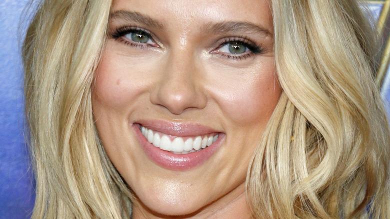 Scarlett Johansson up close wearing makeup