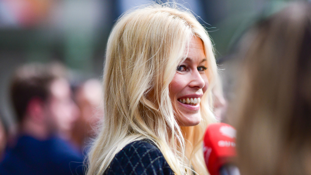Supermodel Claudia Schiffer smiling