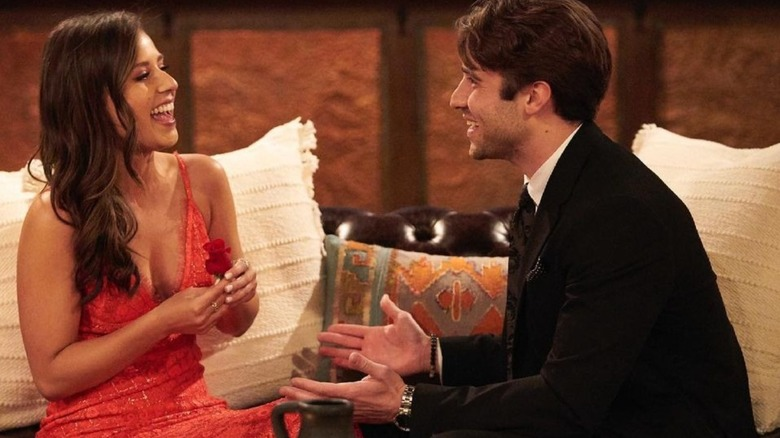 Katie Thurston and Greg Grippo appear on The Bachelorette