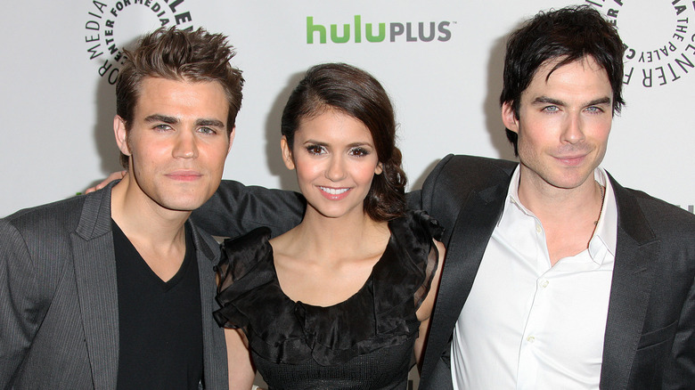 The Vampire Diaries stars Paul Wesley, Ian Somerhalder, and Nina Dobrev at Paleyfest 2012