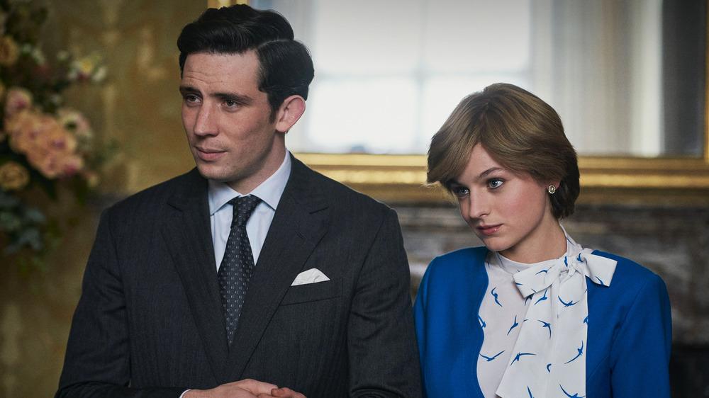 Josh O'Connor and Emma Corrin in The Crown