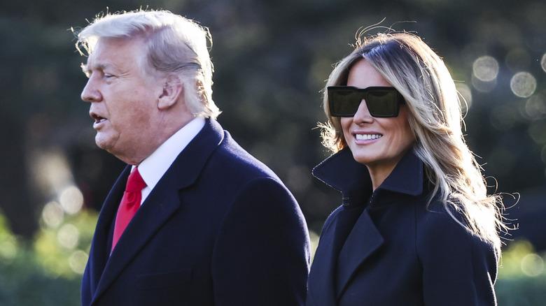 Donald and Melania Trump in the Garden