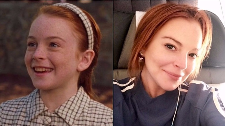 child star Lindsay Lohan then and now