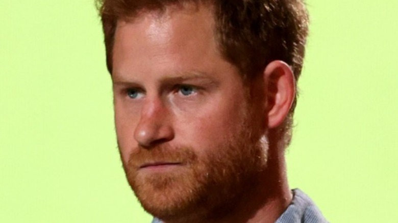 Prince Harry looking to the left