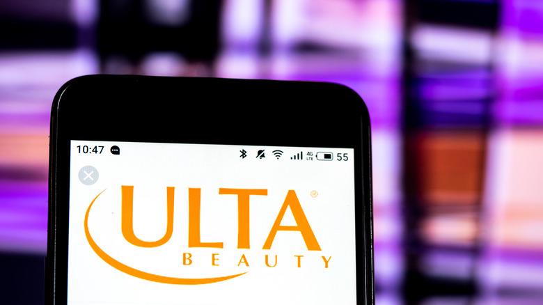 Ulta app on smartphone