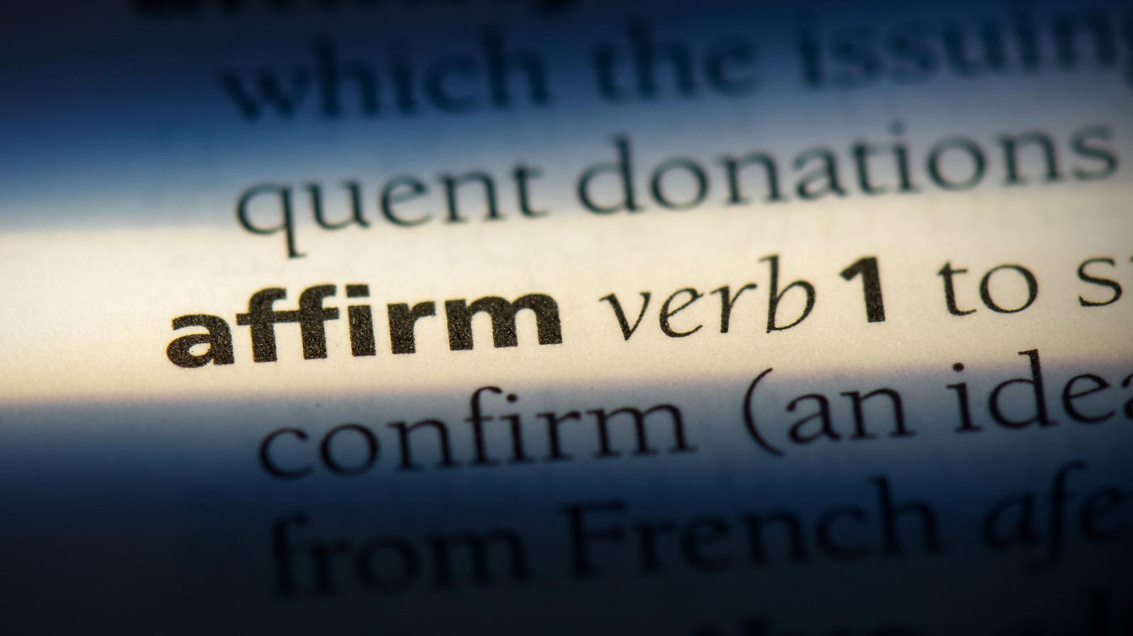 Of affirmation words 119 Positive