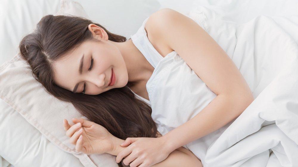 Happily Sleeping Woman