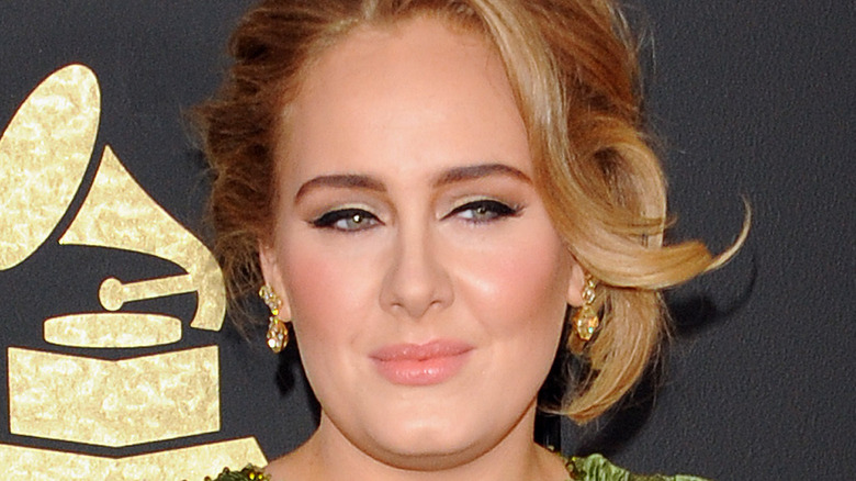 Adele posing
