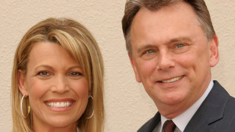 Pat Sajak and Vanna White smiling