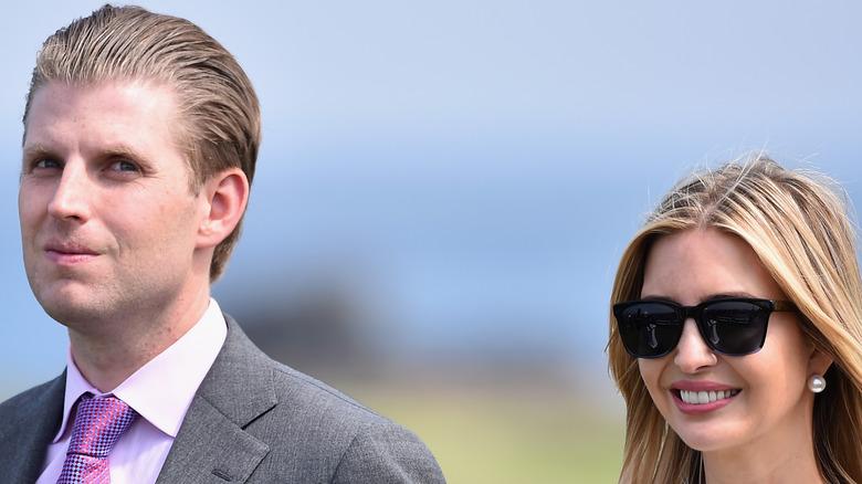 Eric and Ivanka Trump outdoors