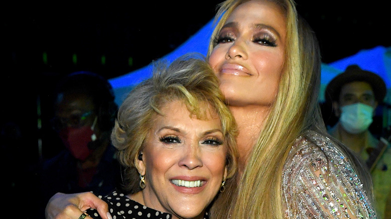 Jennifer Lopez and her mother Guadalupe Rodriguez.