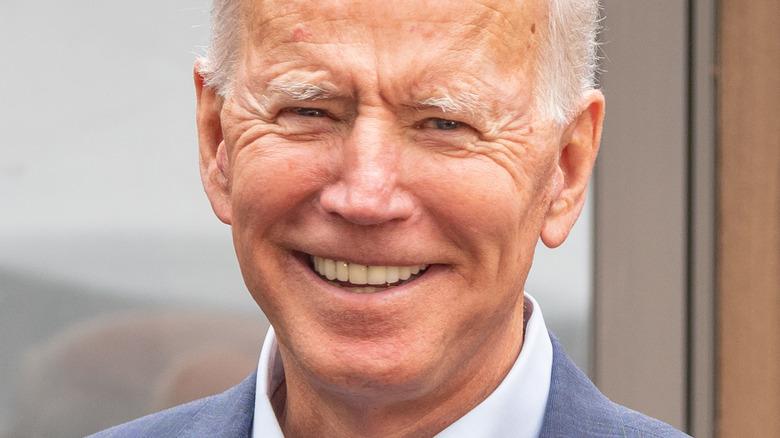 Joe Biden smiles