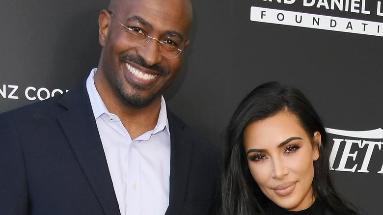 Kim Kardashian and Van Jones at event