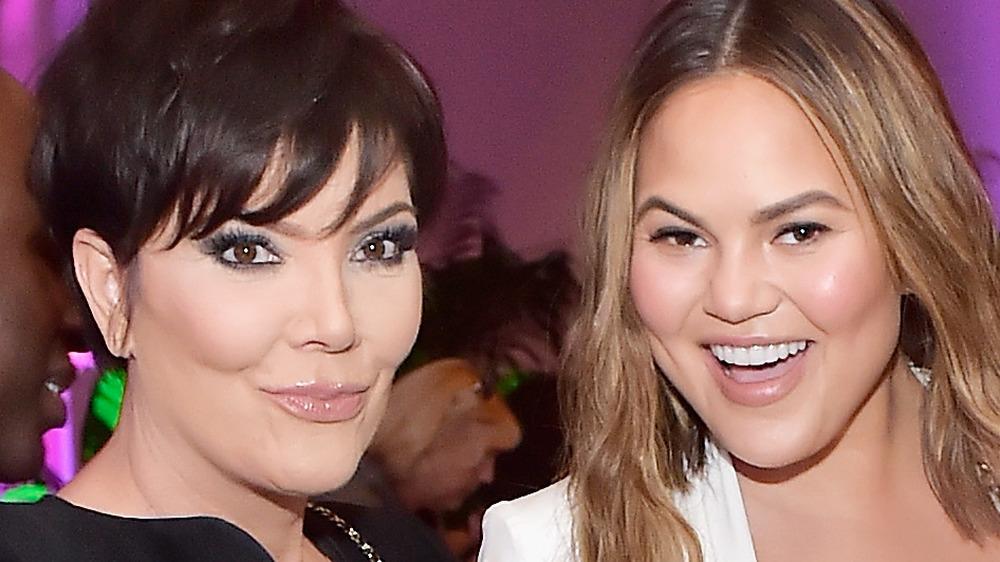 Kris Jenner and Chrissy Teigen at event
