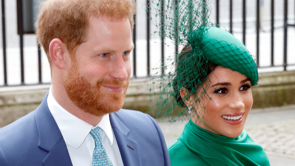 Meghan Markle and Prince Harry smiling