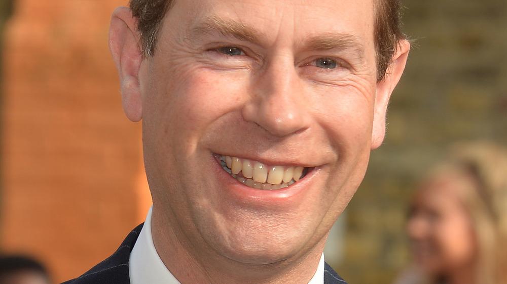 Prince Edward smiling