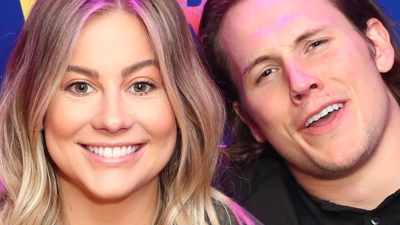 Shawn Johnson and Andrew East in L.A.
