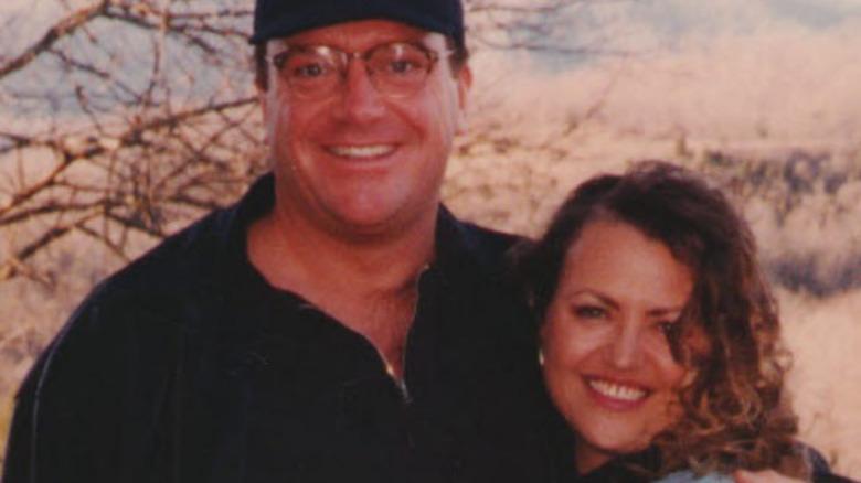 Tom Arnold posing with sister Lori Arnold