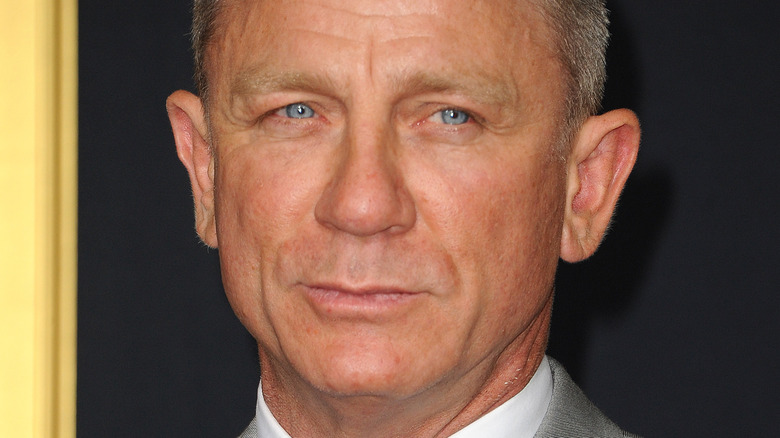 Daniel Craig poses on the red carpet