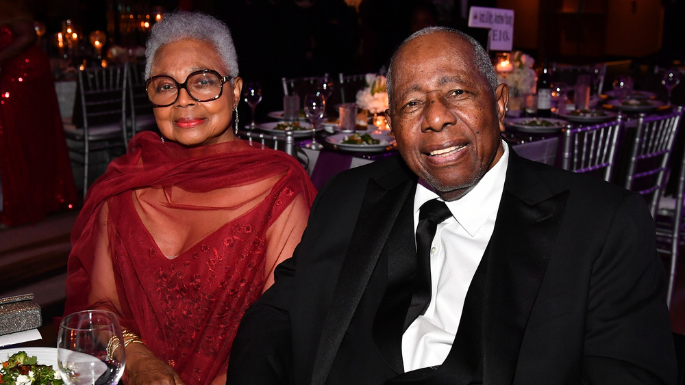 Billye and Hank Aaron seated together at an event in 2019
