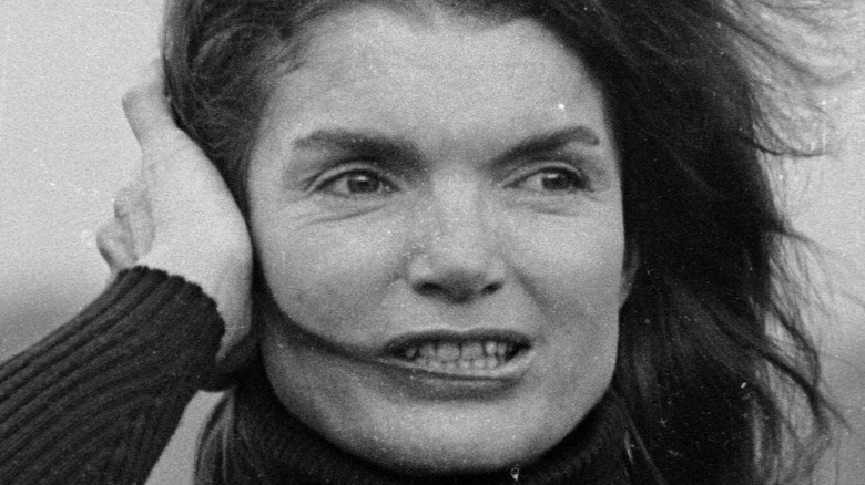 Jackie Kennedy looking to her right