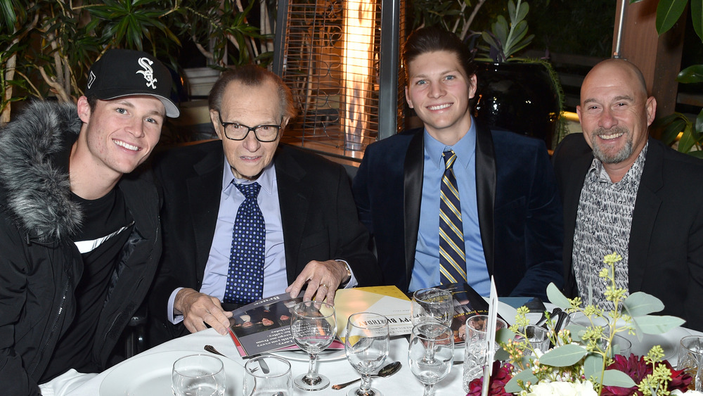 Larry King with his sons