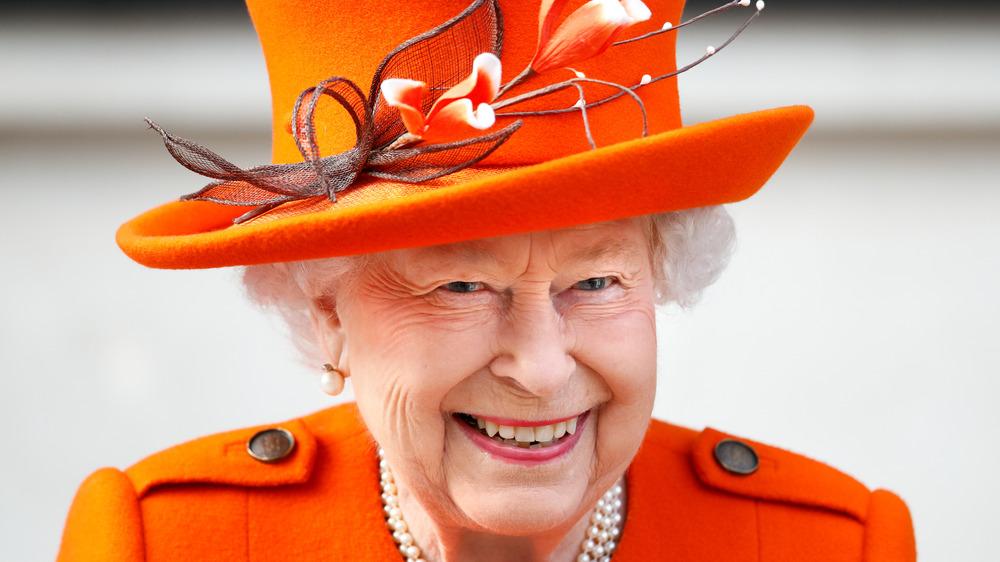 Queen Elizabeth laughing