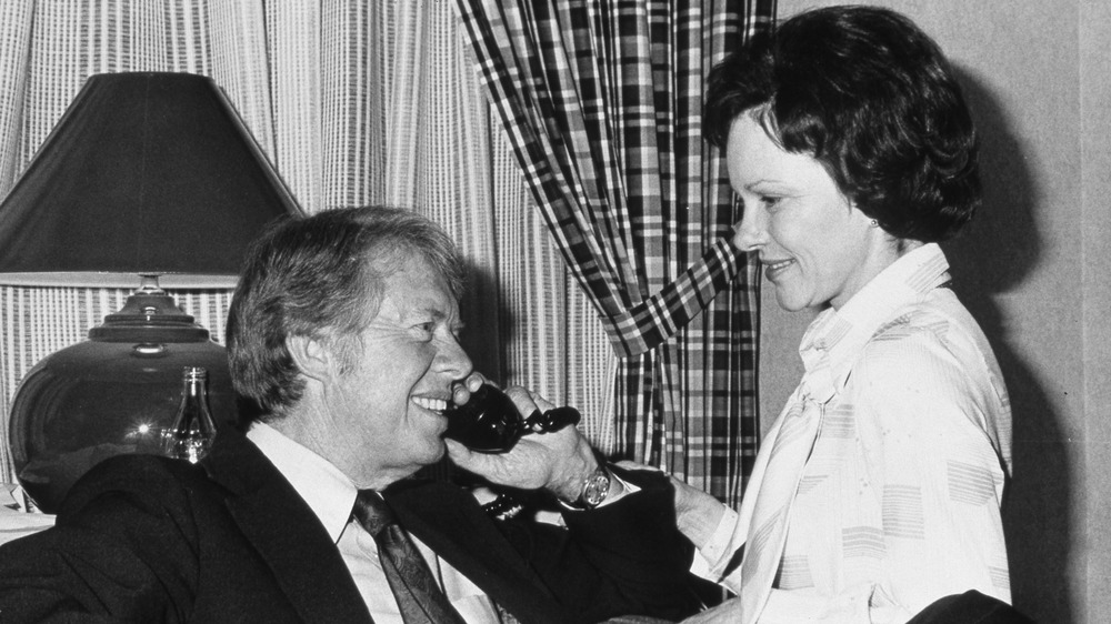 Jimmy Carter with his wife, Rosalynn Carter