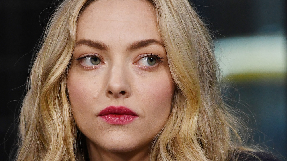 Amanda Seyfried with a straight face