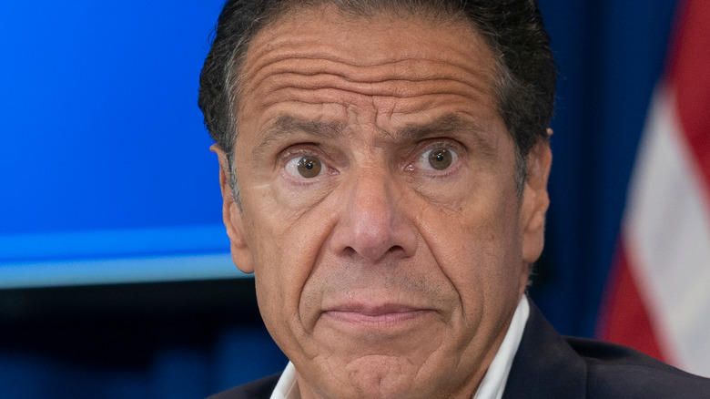 Andrew Cuomo looking concerned