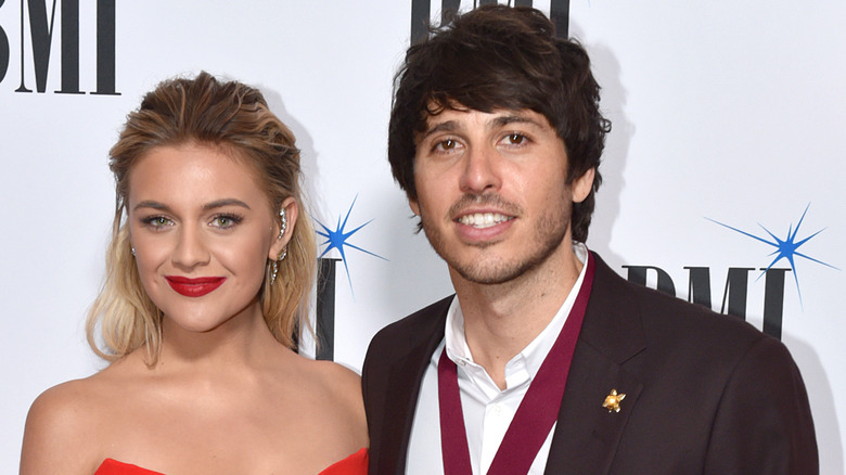 Morgan Evans and Kelsea Ballerini on the red carpet in 2019
