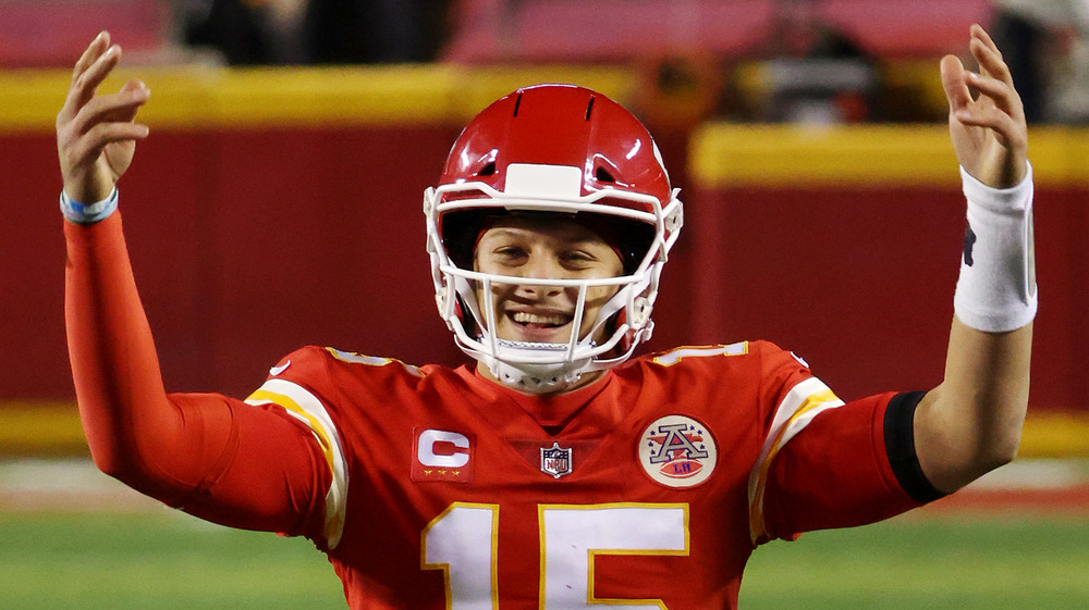 Patrick Mahomes in NFL gear