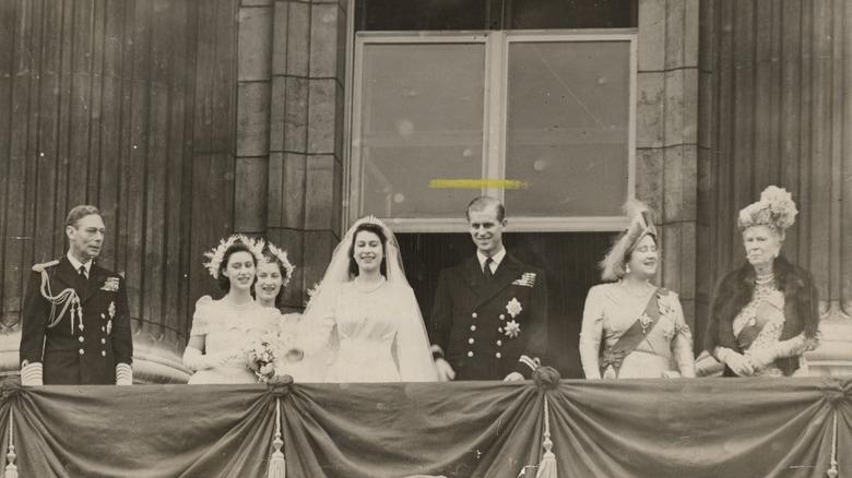 Queen Elizabeth on her wedding day