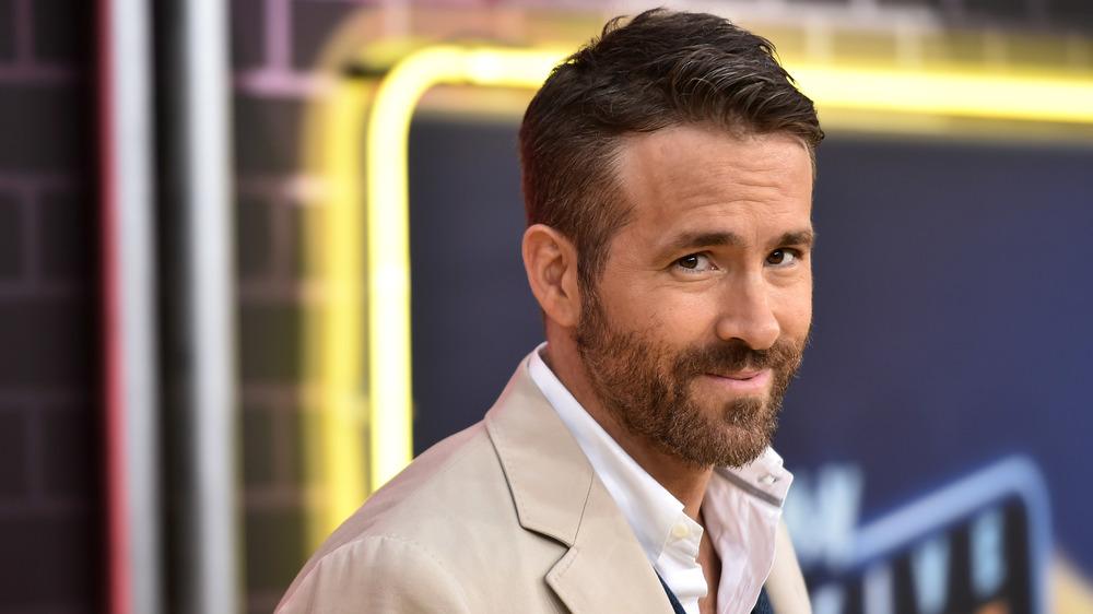 Ryan Reynolds gives a cheeky look