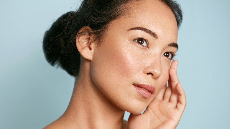 Woman with a natural makeup look