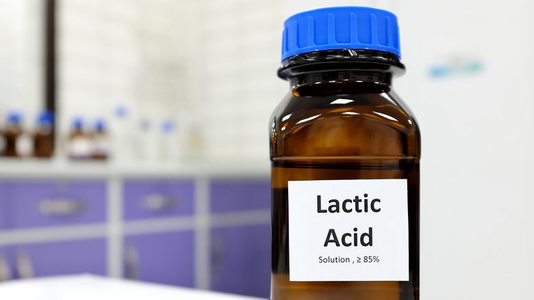 Bottle of lactic acid