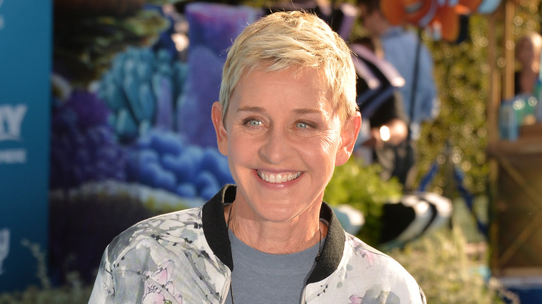 Ellen DeGeneres smiling at an event