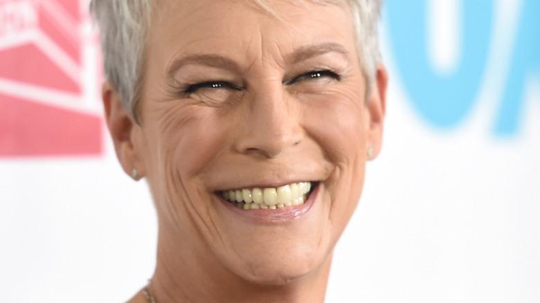 Jamie Lee Curtis smiling