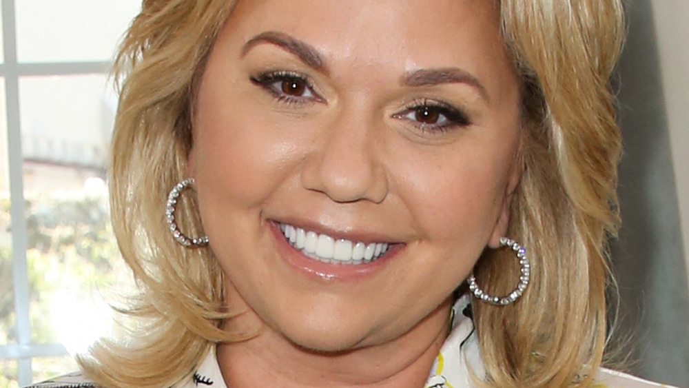Julie Chrisley with hoop earrings